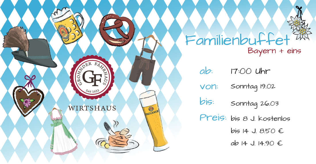 familienbuffet Bayern + 1